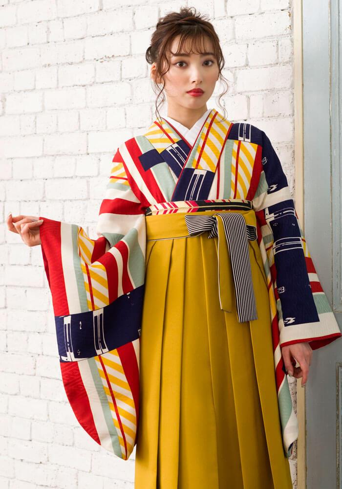 レトロな雰囲気のネットレンタル着物