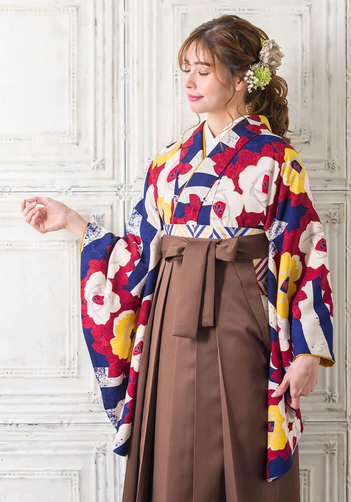 印象的な色使いが人気の卒業式袴BBB447_CHA011
