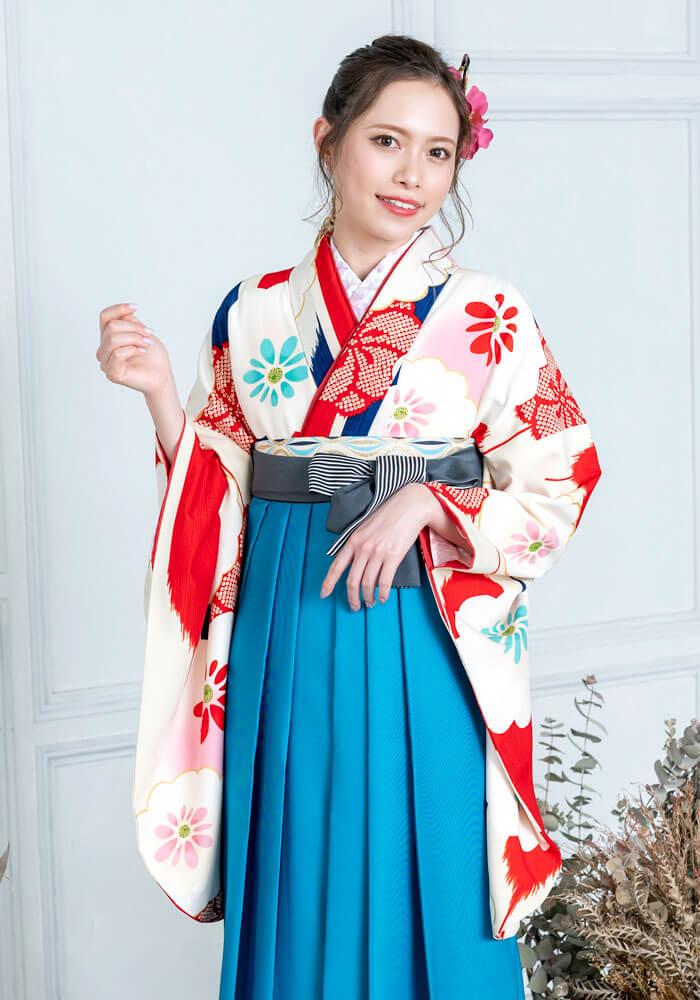 卒業式袴に合わせる雅な古典柄の着物