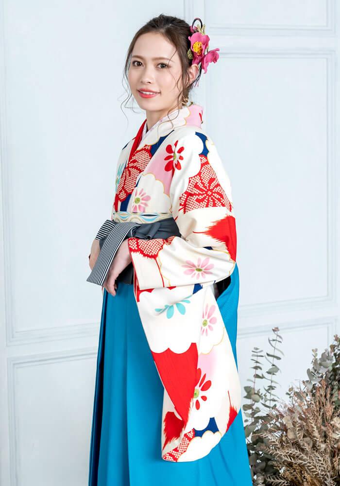 袴レンタルで宅配可能な着物単品商品BBB460