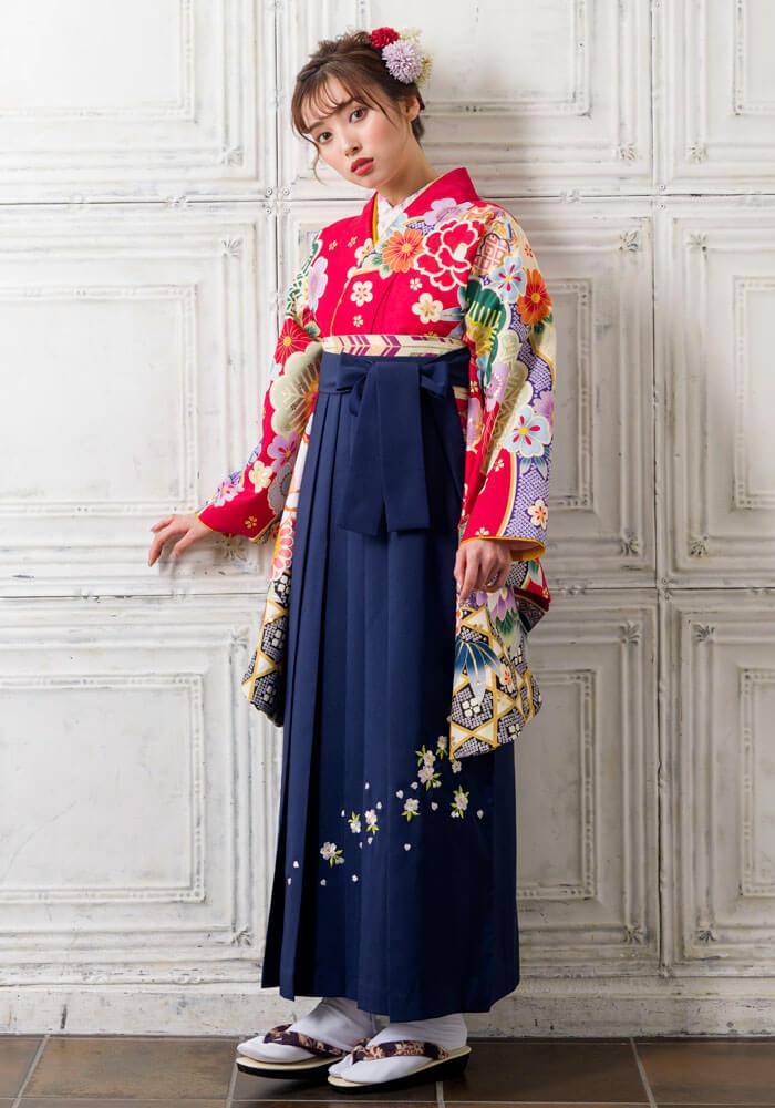 古典柄がモダンに描かれたオシャレな卒業式袴