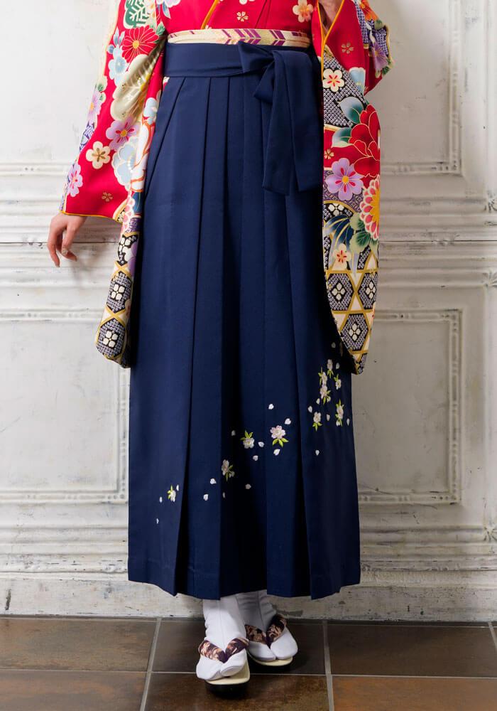 卒業式のネットレンタル袴で定番人気コン刺繍桜