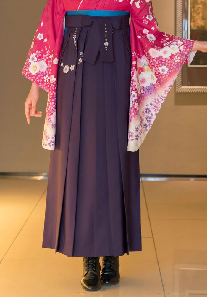 ネットレンタルできる紫の袴