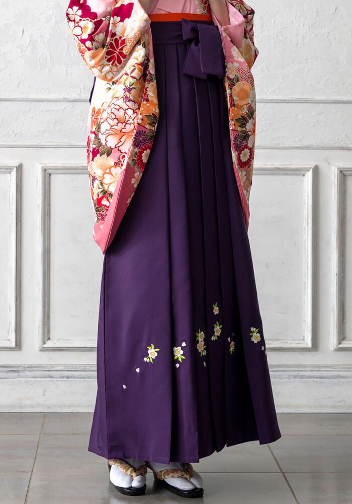 上品な紫のネットレンタル袴