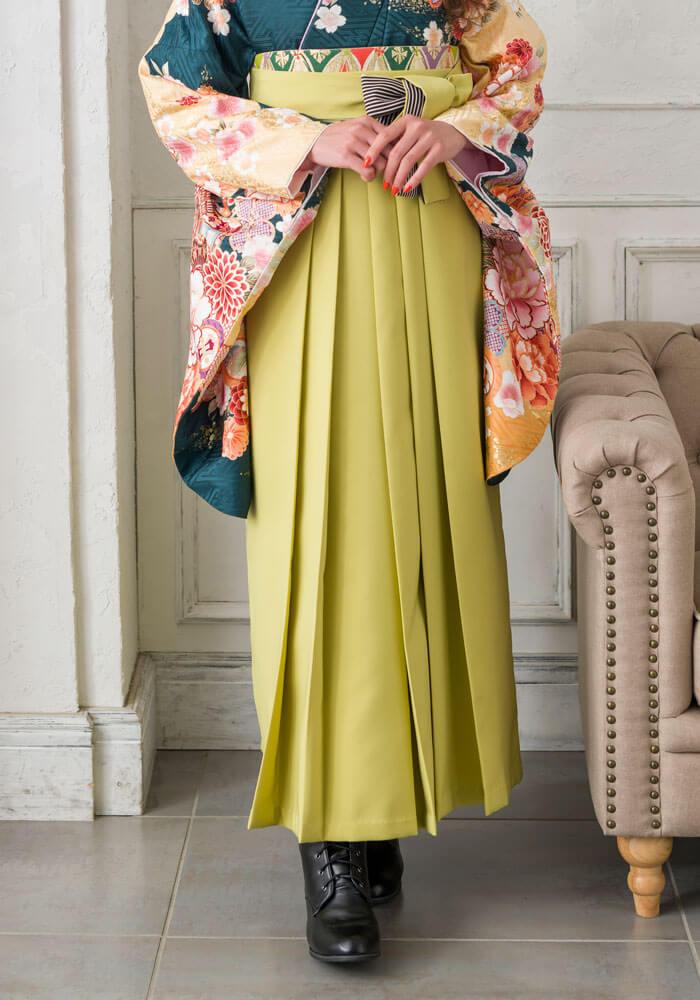 宅配ネットレンタルで人気のモスグリーンの袴