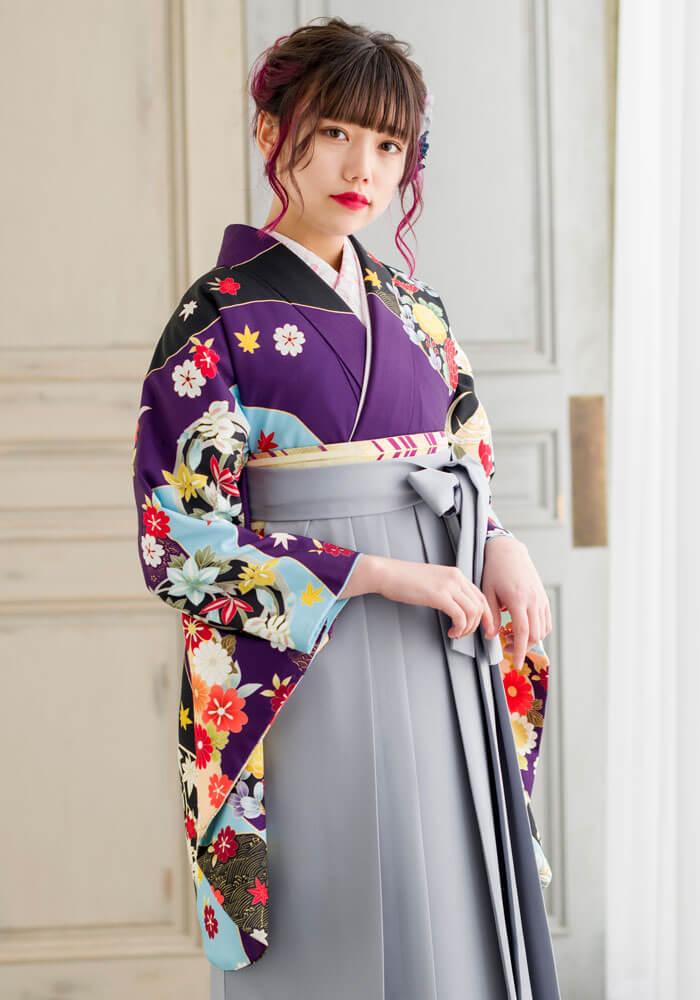 着物:ムラサキ友禅四季花