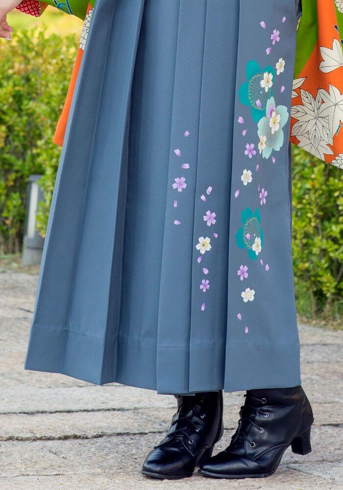 ネットレンタルで人気のグレーの袴KNY207